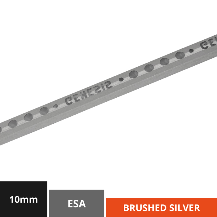 10mm Silver Brushed Effect Metal Trim (ESA100.94)