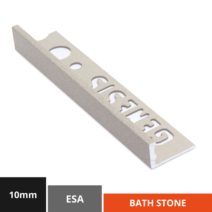 10mm Bath Stone Straight Edge Tile Trim (ESA100.414)