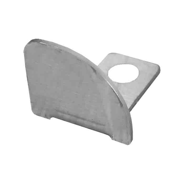 PorcelQuick Stainless Steel Round Edge End Cap Left