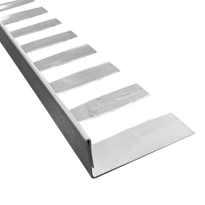 PorcelQuick Stainless Steel Straight Edge Formable External Tile Trim