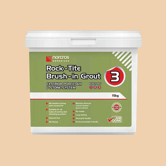 Norcros Rock-Tite Almond Brush In Tile  Grout - 15kg
