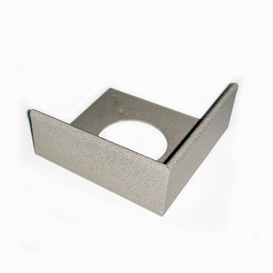 PorcelQuick Straight Edge Stainless Steel Profie Corner Piece - Light Grey Powder Coated